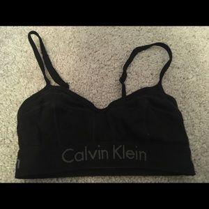 Calvin Klein black size small bra top